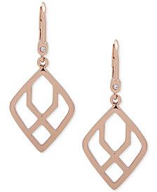 Ivanka Trump Rose Gold-Tone Open Drop Earrings