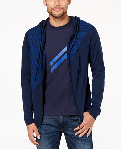 Daniel Hechter Paris Men's Colorblocked Wool Sweater Hoodie, Created for Macy's