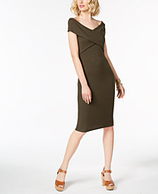 MICHAEL Michael Kors Crossover Sweater Dress in Regular & Petite Sizes