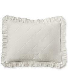 Martha Stewart Collection Linen-Cotton Ruffle Standard Sham, Created for Macy's