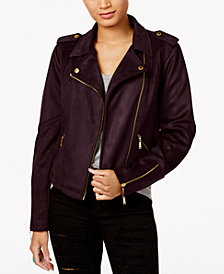 Jou Jou Juniors' Faux-Suede Moto Jacket