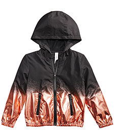 Ideology Metallic Splatter Hooded Jacket, Little Girls, Created for Macy's