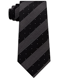 Kenneth Cole Reaction Men's Dotted Stripe Silk Tie