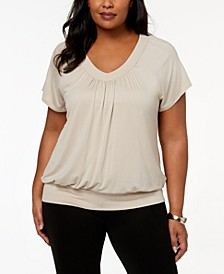 Plus Size Blouson Top, Created for Macy's