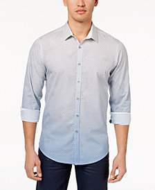 I.N.C. Men's Ombré Geometric Pattern Shirt, Created for Macy's