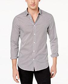 A|X Armani Exchange Men's Triangle Microprint Stretch Shirt