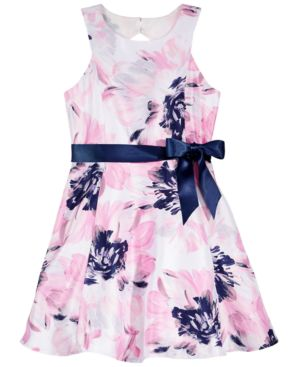Pink & Violet Floral-Print Dress, Big Girls 5659020