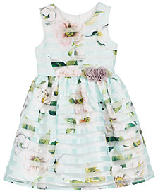 Marmellata Shadow Stripe Dress, Little Girls (2-6X)