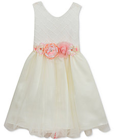 Rare Editions Pintuck-Bodice Ballerina Dress, Big Girls