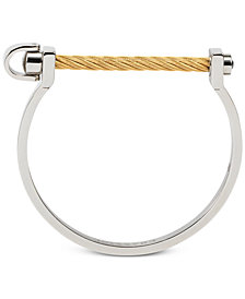 CHARRIOL Two-Tone Structural Bangle Bracelet in Stainless Steel & 14k Gold-Plated Stainless Steel PVD