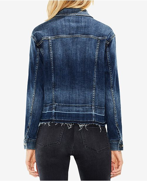 Midnight Denim Vince Released Vintage Hem Jacket Camuto SSCwxqv