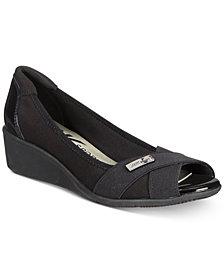 Anne Klein Sport Jetta Peep-Toe Wedge Pumps