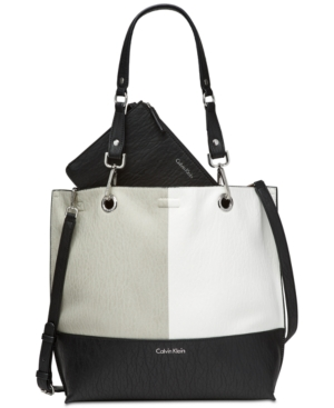 Calvin Klein  COLOR BLOCKED REVERSIBLE EXTRA-LARGE TOTE