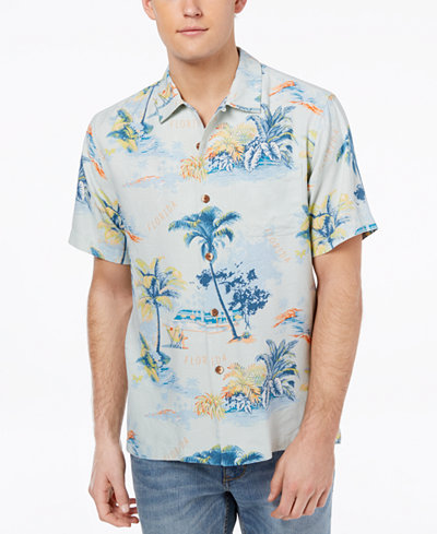 Tommy Bahama Men's Destination Florida Printed Silk Shirt