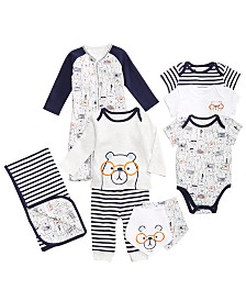 First Impressions Bear-Print Layette Separates, Baby Boys, Created for Macy's