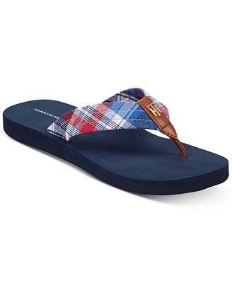 Tommy Hilfiger Camary Plaid Flip Flop