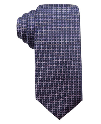 Alfani Men's Geometric Neat Silk Slim Tie, Created for Macy's