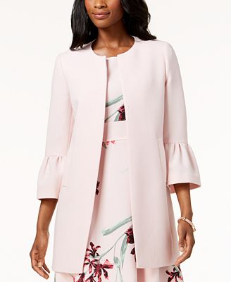 Nine West Car Coat with Bell Sleeves