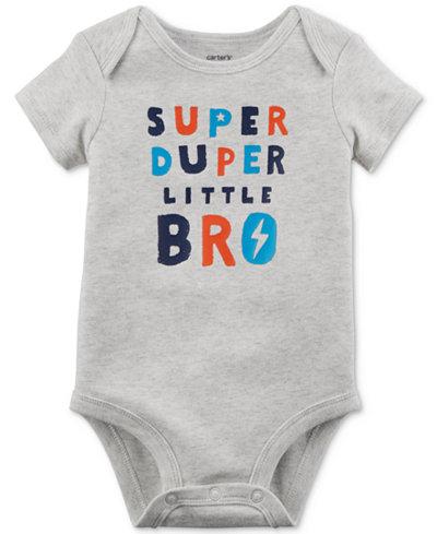 Carter's Graphic-Print Cotton Bodysuit, Baby Boys