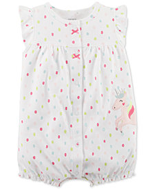 Carter's Unicorn Cotton Romper, Baby Girls