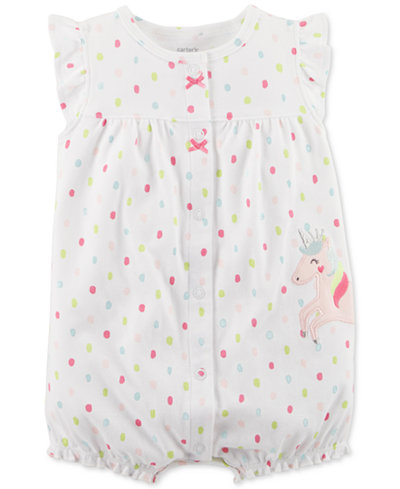 Carter's Unicorn Cotton Romper, Baby Girls
