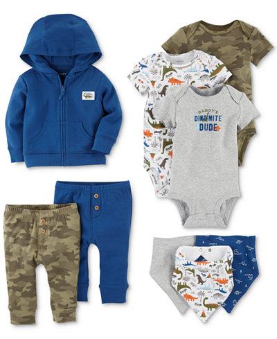 Carter's 9-Pc. Cotton Bibs, Hoodie, Bodysuits & Pants Set, Baby Boys