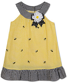 Rare Editions Bumblebee Seersucker Dress, Baby Girls