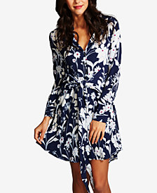 1.STATE Tie-Front Shirtdress
