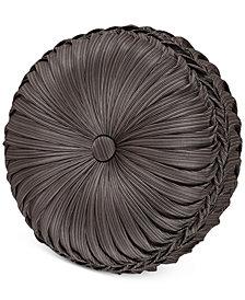 "J Queen New York Astoria 15"" Round Tufted Decorative Pillow"
