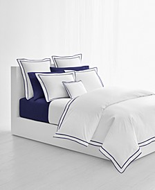 Spencer Cotton Sateen Border King Duvet Cover