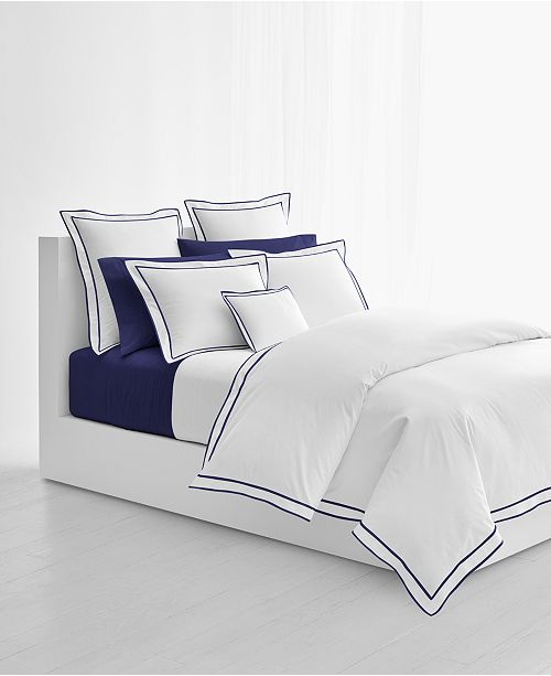 0405e115 Spencer Cotton Sateen Border King Duvet Cover