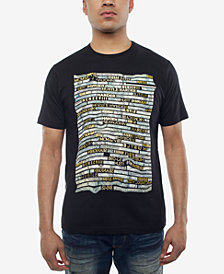 Sean John Men's Money Hustle Metallic-Print T-Shirt, Created for Macy's