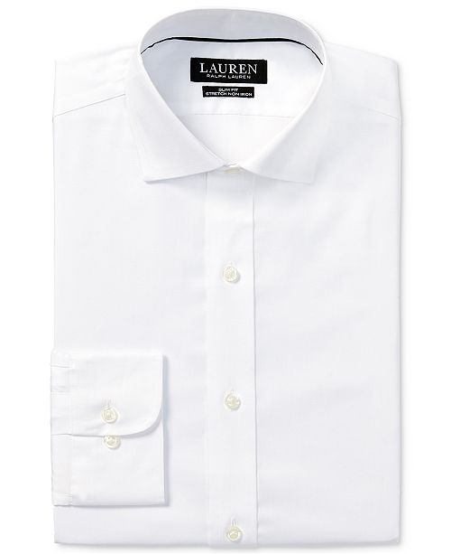 Ralph Lauren Men's Slim-Fit Non-Iron Stretch Pinpoint Dress Shirt