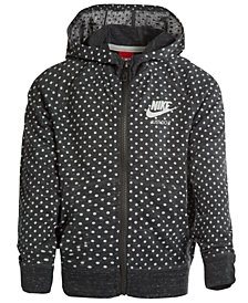 Nike Dot-Print Zip-Up Hoodie, Little Girls