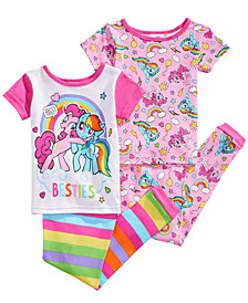 My Little Pony 4-Pc. Besties Cotton Pajama Set, Toddler Girls