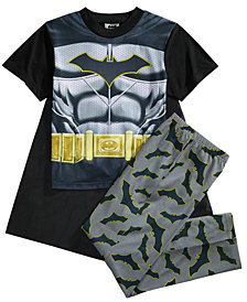 DC Comics® Batman 3-Pc. Dark Crusader Caped Pajama Set, Little Boys & Big Boys