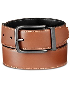 Original Penguin Men's Bubble Reversible Leather Belt