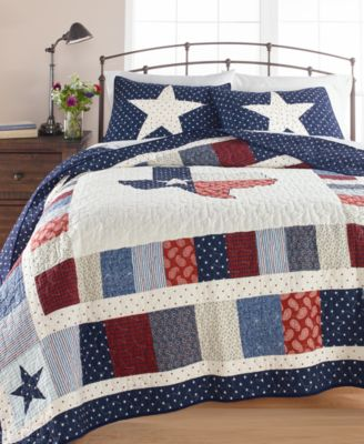 Texas Patchwork Cotton Twin Quilt, Created for Macy's