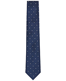 BOSS Men's Diamond-Embroidered Silk Tie
