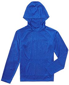 Ideology Triangle-Print Hoodie, Big Boys, Created for Macy's