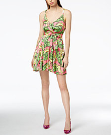 Love Moschino Bow-Waist Printed Dress