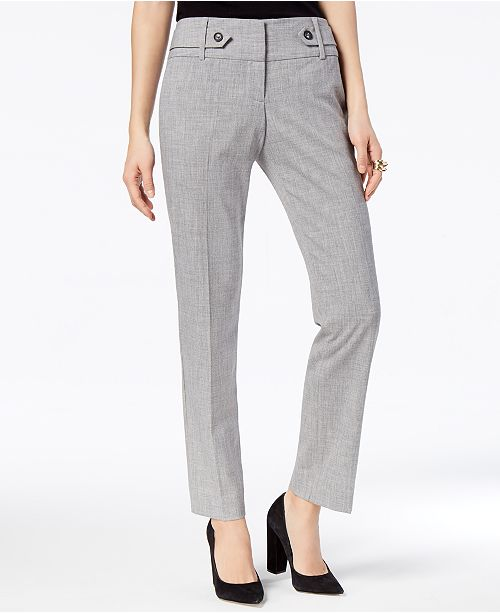 BCX Juniors' Tab-Trimmed Ankle-Length Trousers