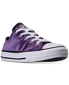 Converse Little Girls' Chuck Taylor Ox Velvet Casual Sneakers from Finish Line