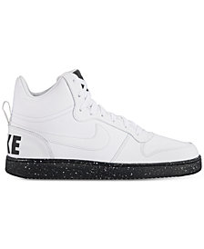 Nike Men's Court Borough Mid SE Casual Sneakers from Finish Line