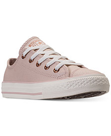 Converse Little Girls' Chuck Taylor Ox Leather Casual Sneakers from Finish Line