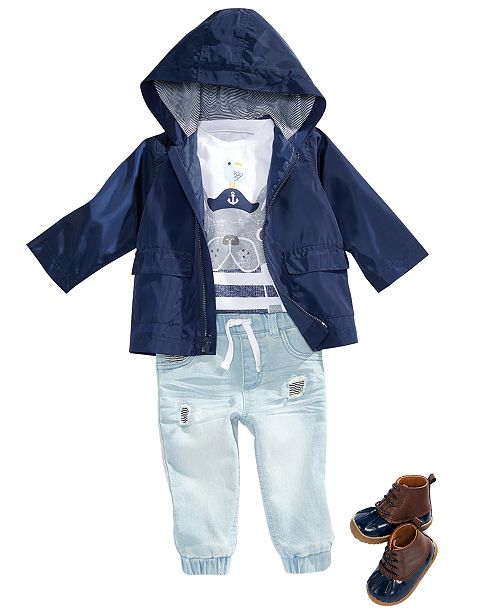 d327c4ab237c First Impressions Baby Boys Hooded Windbreaker