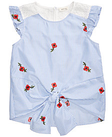 Monteau Tie-Front Top, Big Girls