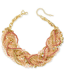 Thalia Sodi Gold-Tone Multi-Bead Torsade Necklace, Created for Macy's