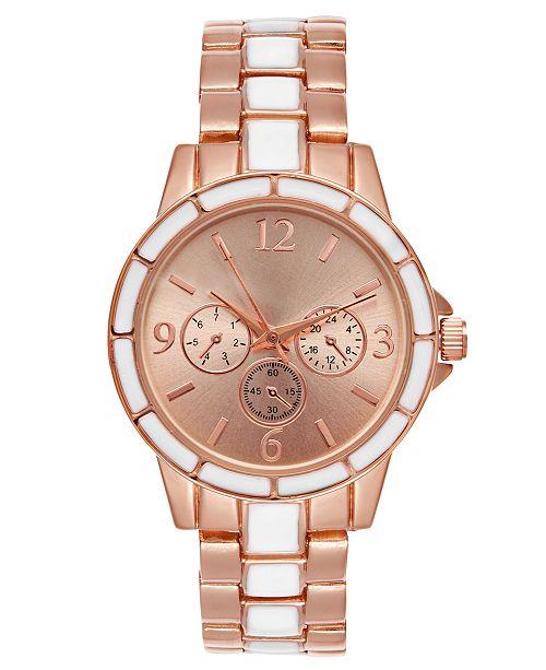 Charter Club Women's Two-Tone Bracelet Watch 34mm, Created for Macy's