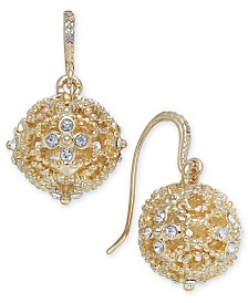 Charter Club Crystal Filigree Drop Earrings, Created for Macy's